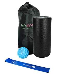 YogiMall 2 in 1 Foam Roller Set with Carry Bag | High Densit