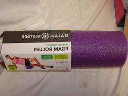 "GAIAM 18"" FOAM ROLLER FOR SORE MUSCLES  PURPLE"