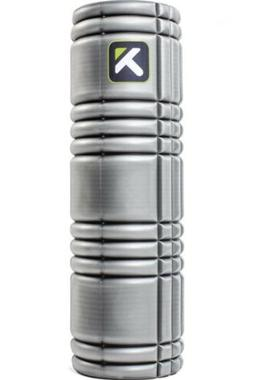 """Trigger Point Performance 18"""" Solid Core Foam Roller, Gray"""