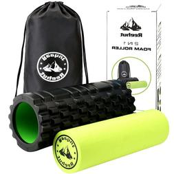 2-in-1 Foam Roller for Painful, Tight muscles and Rehabilita