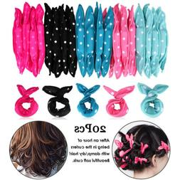 20PCS Hair Styling Rollers Soft Sleep Foam Pillow Hair Curle