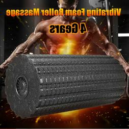 4-Speed Rechargeable Electric Vibrating Massage Foam Roller