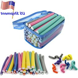42pc Hair Curler Twist Flex Foam Perm Rods Hair Salon Roller