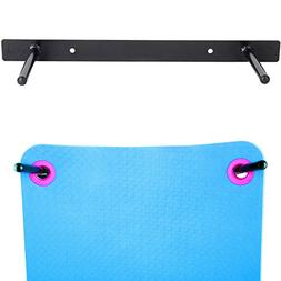 Aeromat Wall Mount Mat Hanging Rack, 20 Inches, Holds Up to