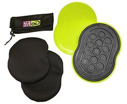 Go Slides by GoFit   Gliding Exercise Discs For Core Strengt