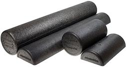 Isokinetics Inc. Brand Black High Density Foam Rollers - Ext