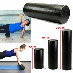 Black Extra Firm High Density Foam Roller Muscle Back Pain T