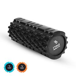 """Day 1 Fitness - 13"""" Black Massage Roller - Great for Muscle"""