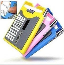 Business Card Holder With Solar Calculator And Mini Pen