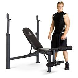 Marcy Competitor Adjustable Olympic Weight Bench with Leg De