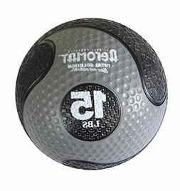 Deluxe 10 in. Medicine Ball in Black and Gray by Aeromat
