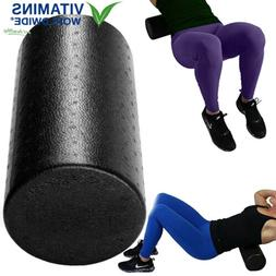 Black High Density Foam Rollers Full Round - Extra Firm - 6""