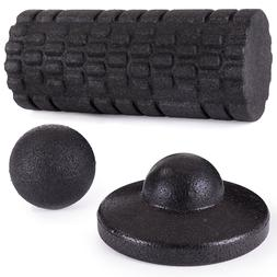 DR. FOAM Textured Foam Roller Massage Tools Set for Fitness