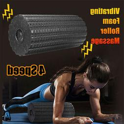 Electric Rechargeable Vibrating Foam Roller Massager Fitness