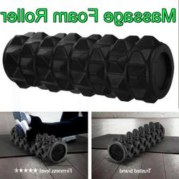 EVA Foam Roller Grid Physio Pilates Yoga Gym Exercise Trigge