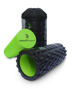 AmazinFitness Foam Roller 2 in 1 PLUS FREE BAG AND VIDEO Hig