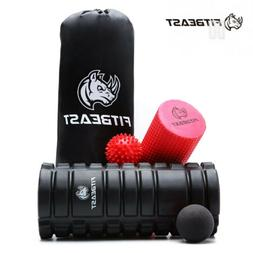 Foam Roller 2 in 1 Rollers 4 Piece Set for Deep Tissue Muscl
