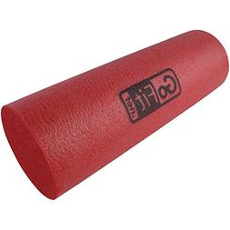 GoFit 18-inch GoFit Foam Roller with Training Manual-Red