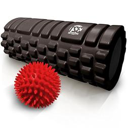 321 STRONG Foam Roller Combo Kit with Spikey Foot Massage Ba