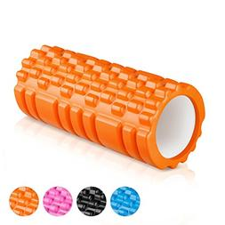 "ENKEEO Foam Roller 13"" x 6"" EVA with Grid Design Muscle Roll"
