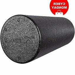 REEHUT Foam Roller - Firm High Density Muscle Rollers with F