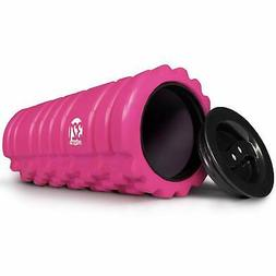 321 STRONG Foam Roller for Muscle Massage with End Caps - St