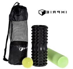 2 in1 Foam Roller Set, Back Muscle Rollers for Workout Exerc