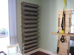 Foam Roller and Yoga Mat Storage Rack Wall Mount in Sustaina