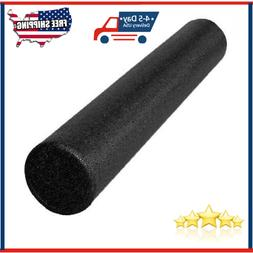 LuxFit High Density Foam Roller 6x12 Inch Extra Firm Round E