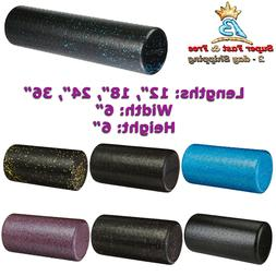 "High-Density Foam Roller With Molded Polypropylene 12""/18""/2"
