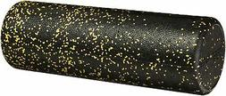 AmazonBasics High-Density Round Foam Roller, Black and Speck