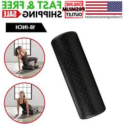 High-Density Round Foam Roller Yoga Exercise Therapy 18-Inch