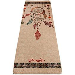 Aimerday Premium Natural Jute Yoga Mat Pure Rubber Base, 72'
