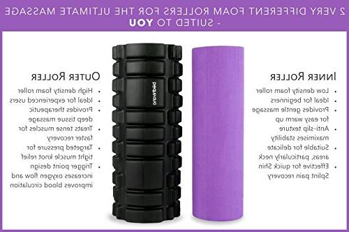 Bodhivana Therapy Foam for with Travel Bag, Video and - Purple