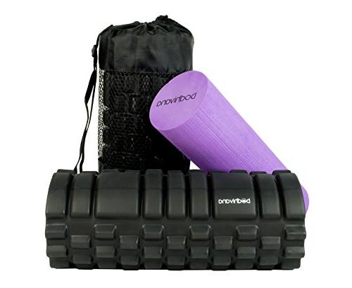 bodhivana 2 in 1 therapy massage foam rollers for muscles1 therapy massage foam rollers