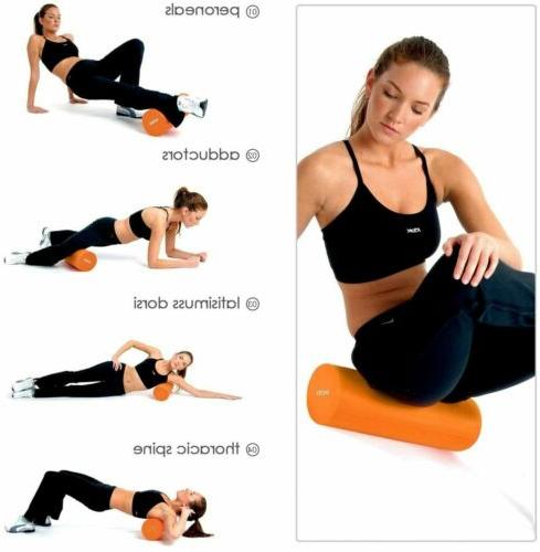 2 in Roller Body building Massager Trigger Point Yoga Pilates