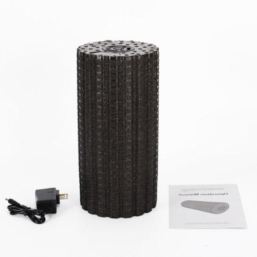 4-Speed Electric Vibrating Massage Foam Roller Muscle