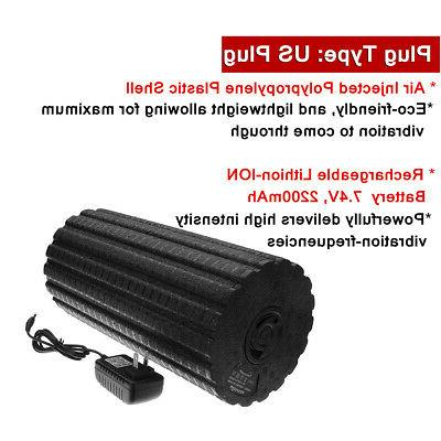 4-Speed Rechargeable Electric Vibrating Yoga Foam Roller Muscle Recovery