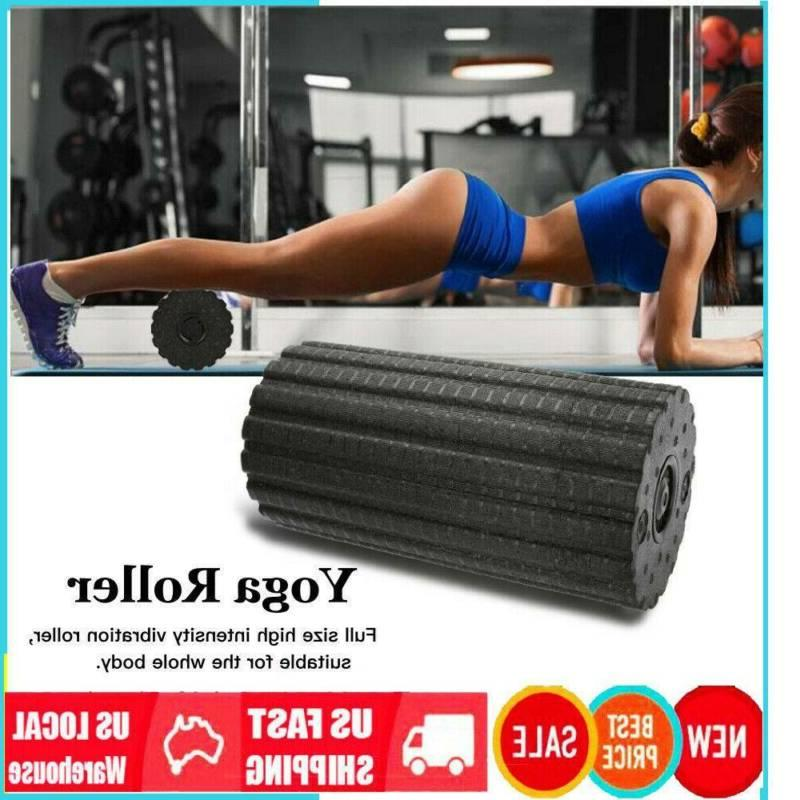 4Speed Electric Vibrating Foam Roller EVA FOAM Yoga Gym Trig