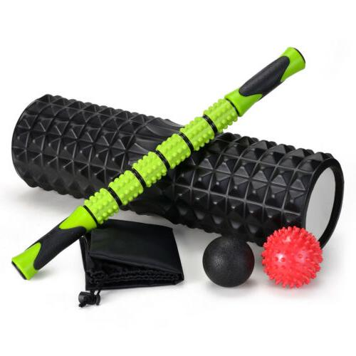5 Foam Roller Kit & Roller Stick for Therapy