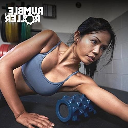RumbleRoller 31 Inches - - Textured Foam Roller - Sore Your Own Massage Therapist - Patented Foam Roller
