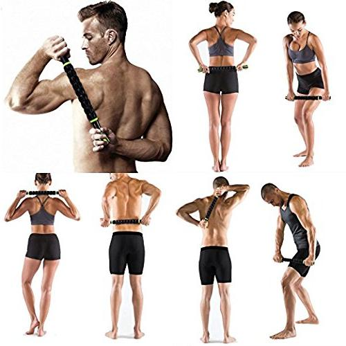 Back Calf Massage Sticks Tool Reducing Soreness, Loosing and Soothing