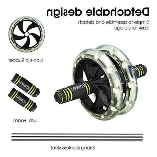ENKEEO Ab Roller Exercise Wheel with Easy and Physical
