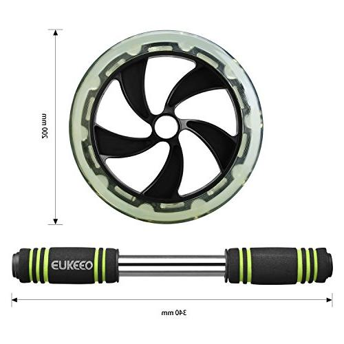 ENKEEO Roller Exercise Dual Wheel Easy Handles Core Abdominal Workout and Physical