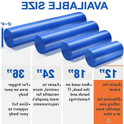 YES4ALL ROLLER FIRM HIGH BACK MUSCLE BLUE