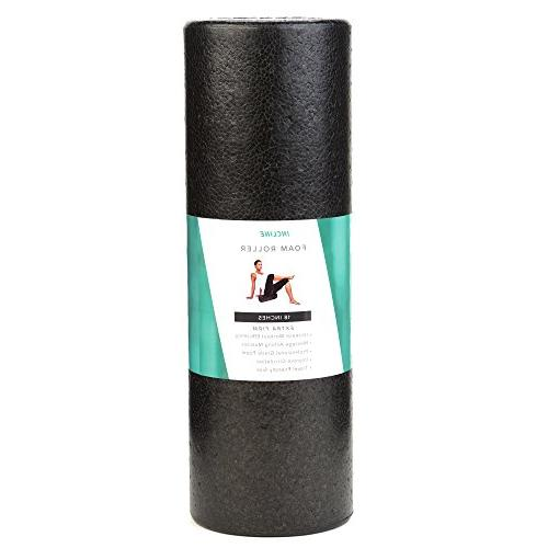 Incline Fit High Density Extra Foam Roller, Speckled Colors, Onyx