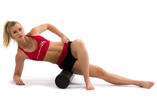"""ProsourceFit Extra Firm Roller Muscle Exercises 36""""x 6""""Black"""