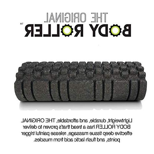 The Original Roller - Foam Roller Tissue Massage and Leg Self Myofascial Painful Muscle Adhesions - Black
