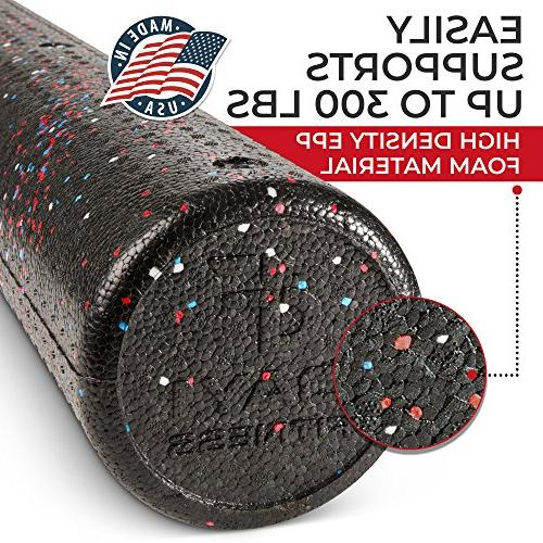 """High Muscle Rollers Fitness - Sports Rollers for Therapy, Myofascial Exercise – 18"""""""