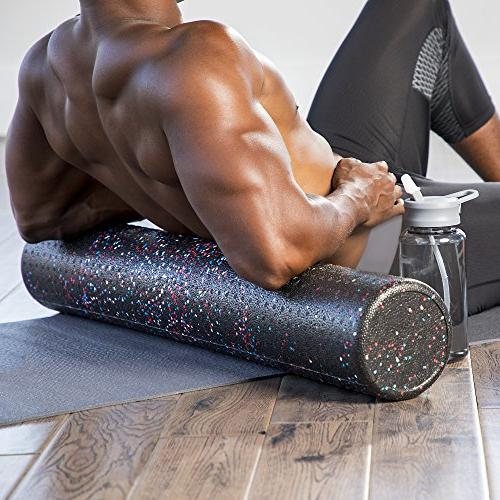 High Muscle Rollers 1 Fitness - Therapy, Tissue Myofascial Release Exercise and Pain – Speckled,